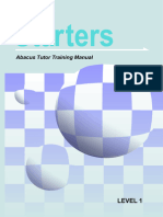 Indian Abacus Starters Tutor Training Manual_1st Level - free