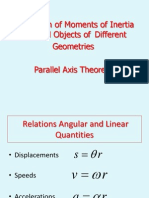 Calculati Moments of Inertia for Rigid Objects of Different Geometries and Parallel Axis Theorem.pptx