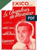 Luis Mariano - Chanteur de Mexico - 35p