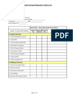 Pm Checklist Puma Pk 20