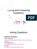LOTE - Indo 9 - Unit 4 - Resource - Asking Questions