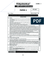 JEE Advanced 2014 Solution Paper I