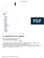 3A Adjustable Power Supply