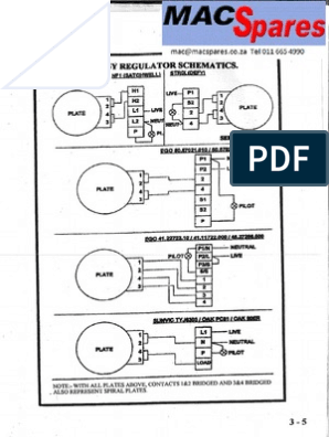 wiring diagrams stoves switches and thermostats macspares stove energy regulator schematics  stove energy regulator schematics