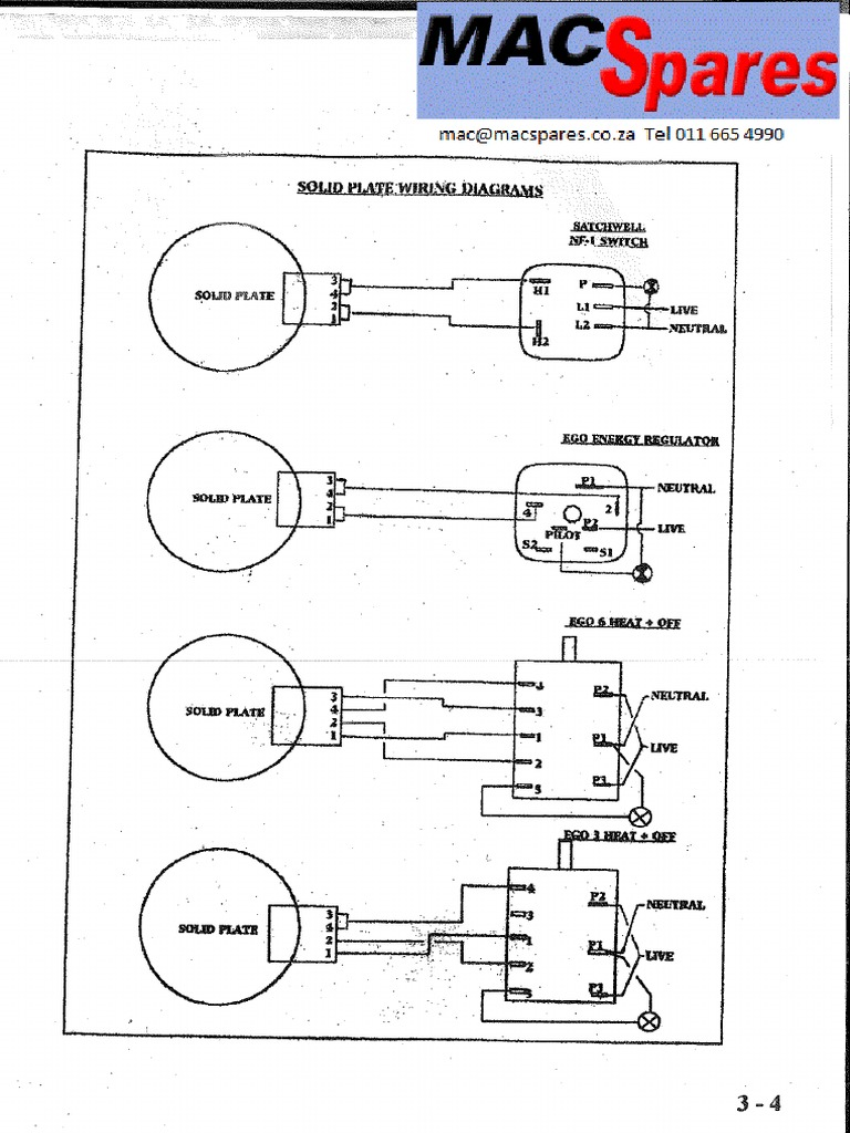 Stove Solid Plate Wiring Diagrams