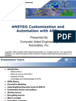 ANSYS® Customization and Automation With APDL