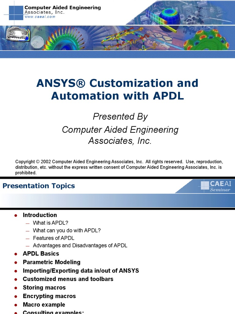 ANSYS® Customization and Automation With APDL | Matrix (Mathematics