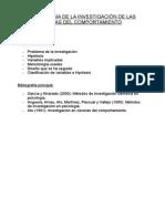 METODOLOGÍA DE LA INVESTIGACIÓN DE LAS CIENCIAS DEL COMPORTAMIENTO