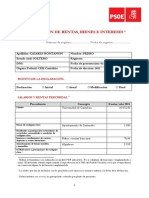 Declaración de rentas, bienes e intereses de Pedro Casares