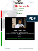 61324996 His Last Words From Kwame Ture Fka Stokely Carmichael Organize Organize Organize