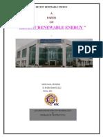 Recent Renewable Energies