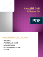 Analisis Gigi Permanen