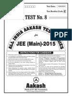 JEE Main 2014_Test 8 (Paper I) Code A
