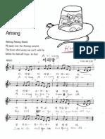Arirang - Korean folk song - Melody, lyrics and chords
