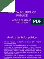 Modele de Analiza Politicilor