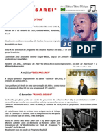Partitura Gospel Batera Jotta a Descansarei Portal Daniel Batera Drum Sheet