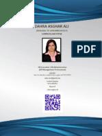 Zahra Asghar Ali CV