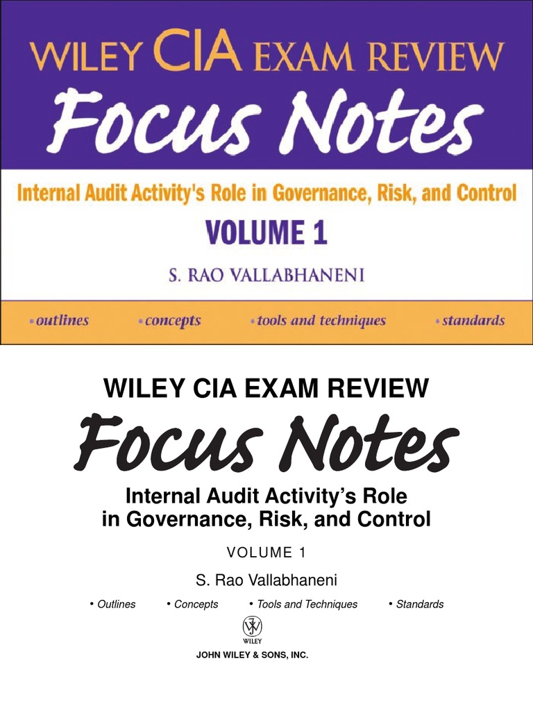 Wiley CIA Exam Review Focus Notes_0470277068 | Internal