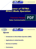 The Power of TETRA-Direct Mode Operation-Selex Communications Francesco Pasquali
