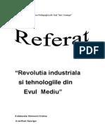 Revolutia Industriala Si Tehnologiile in Evul Mediu