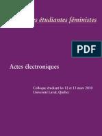 Actes Perspectives Etudiantes Feministes