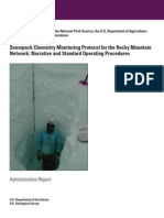 Snowpack Chemistry Monitoring Protocol for the Rocky Mountain Network; Narrative and Standard Operating Procedures
