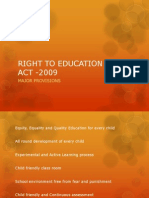 Right to Education (Rte) Act - 2009 Ppt