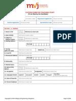 MVJCE Application Form Teaching