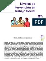 Niveles de intervencion en trabajo social