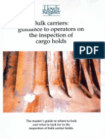 Bulk Carriers Inspection of Cargo Holds