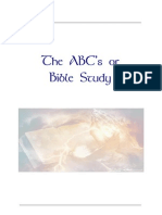 The ABCs of Bible Study - How to study the Bible for yourself!