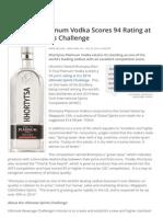 Khortytsa Platinum Vodka Scores 94 Rating at Ultimate Spirits Challenge