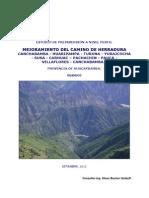 Mejoramiento Del Camino de Herradura Canchabamba - Huaripampa - Turuna - Yurajcocha