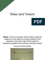 Shear and Torsion