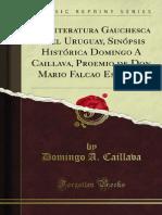 La Literatura Gauchesca en El Uruguay Sinopsis Historica Domingo a 1400000739
