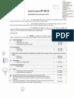 DEXE_N_6413_Aranceles Titulos, Grados, Certificados, Canjes, Legalizaciones Uv - 2015