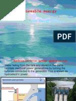 Renewable Sources of Energy Water Energy-2007