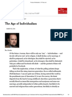 R1 - Douthat-The Age of Individualism - NYTimes