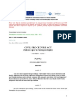 Civil Procedure Act - Hrvatski