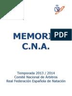 Memoria CNA 2013-2014