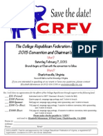CRFV Convention Sponsorship