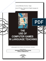 The Use of Computer Games in Language Teaching SEMINAR PAPER on MELT - Dushan Stojchev-libre