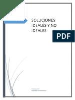 Soluciones Ideales y No Ideales