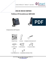 GAMA BAJA Guia de Inicio Rapido GXP1405