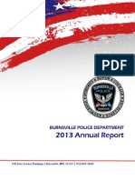 BURNSVILLE MINNESOTA POLICE DEPARTMENT  2013 Annual Report
