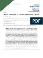 Music as Environment