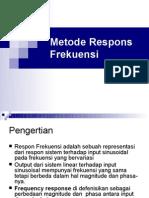 Metode Response Frekuensi