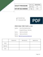 6-Hot Dip Galvanizing Procedure - Rev 0-P