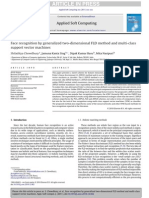 Face Recognition by Generalized Two-dimensional FLD Method and Multi-class SVM