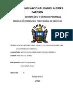 Capacidad Juridica de Los Extrangeros en El Peru